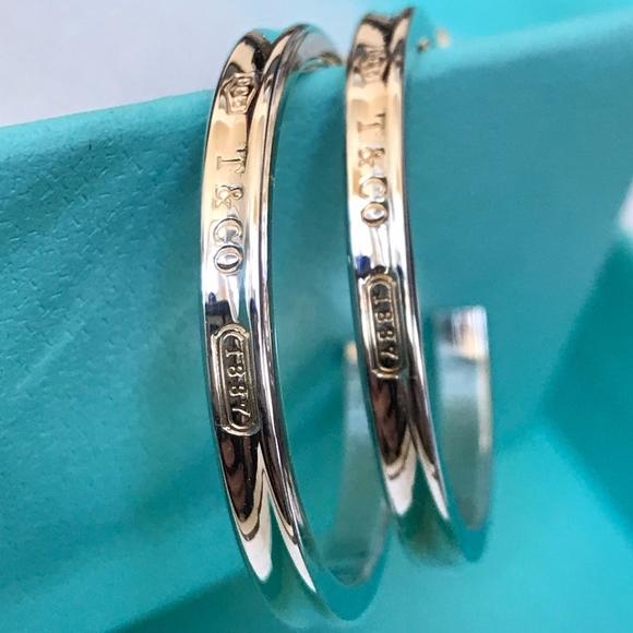 82498211a Tiffany & Co 925 Sterling Silver 1837 Hoop Earring.  M_5c658fe6a31c33dec6c41c15